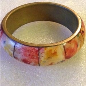 Bone brass bangle